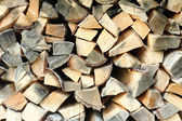 Cooked dry firewood for the fireplace. — Stock Photo