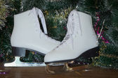 New year's gift - the beautiful woman skates. — Photo