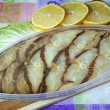 Fish canned smoked halibut. — Stock Photo #40022113