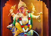 Statue of the Indian deity Ganesh. — Stock Photo
