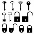 Silhouettes of old keys — Stock Vector #21350147