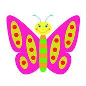Illustrazione di farfalla di colore. — Vettoriale Stock