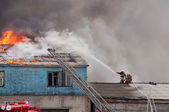 Extinguish fire. — Stock Photo