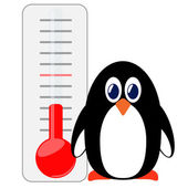 Penguin of thermometer. — Wektor stockowy