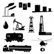 Oil and petroleum icon set. — Stock Vector