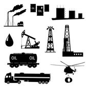 Oil and petroleum icon set. — Stock vektor