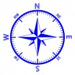 The emblem of the compass rose. — Stock Vector