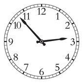 白い背景で隔離の時計. — ストックベクタ