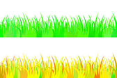 Set of seamless the grass. — Stock Vector