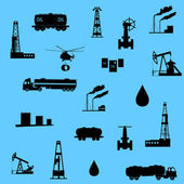 Oil and petroleum icon. Seamless. — Stock Vector