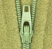 Detail of zipper — Foto Stock