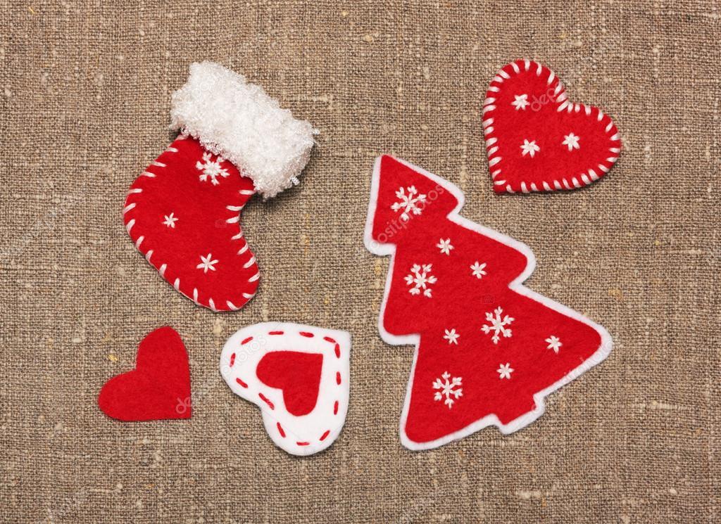 Fieltro adornos navide os hechos a mano en saqueo foto - Adornos navidenos de fieltro ...