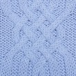 Knit woolen texture. Blue fabric — Stock Photo