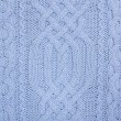 Stock Photo: Knit woolen texture. Blue fabric