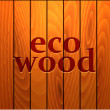 Royalty-Free Stock Vector Image: Eco wood on brown wood texture background