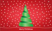 Veselé vánoční červená — Stock vektor