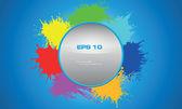 Colorful splash background frame — Stock Vector