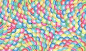 集彩色的气球、 球、 云彩、 矢量图 — 图库矢量图片