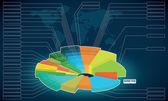 Economic and mathematic scheme, diagram, outline, circuit, chart — Stock Vector