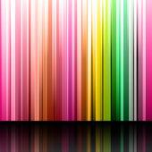 Insieme di retta giallo, rosa, blu e violetto bande e strisce o — Vettoriale Stock