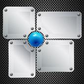 Set of window design for IT, technique, mechanism, communication — Stock Vector