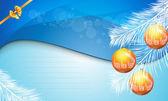 New Year 2014 and Merry Christmas postcard, brochure, background — Stok Vektör