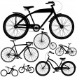 Постер, плакат: Set of different bicycles bikes