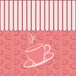Dining background in pink color for coffee shop, cafe, bar, bist — Stock Vector