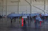 Mcguire райтстаун авиационной базы ввс, 12 мая нью-джерси: макет общей атомной энергетики mq-1b хищник беспилотный воздушный бпла транспортного средства (дрон) изображен во время дня открытых дверей основы, проводимого в мае 2012. — Стоковое фото