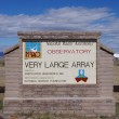 Постер, плакат: NEAR SOCORRO NEW MEXICO USA OCT 6: A sign at the entrance to the National Radio Astronomy Observatory Very Large Array VLA is pictured on Oct 6 2011