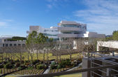 LOS ANGELES, CALIFORNIA, USA - DECEMBER 29: The J. Paul Getty Research Institute at the Getty Museum on December 29, 2011. The building was designed by architect Richard Meier. — Stock Photo