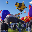 ALBUQUERQUE, NEW MEXICO, USA - OCTOBER 08: The Hornet hot air balloon was a featured attraction at the 40th edition of the Albuquerque International Balloon Fiesta held in October 2011. — Stock Photo
