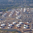 LINDEN, NEW JERSEY, USA - OCTOBER 09: The Phillips 66 oil refinery and storage tanks are pictured in this aerial photograph taken on October 09, 2011. — Stock Photo