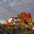 Stock Photo: ALBUQUERQUE, NEW MEXICO, US- OCTOBER 06: mass inflation of special shape balloons is pictured at 40th edition of Albuquerque International Balloon Fiestheld in October 2011.
