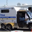 McGUIRE AIR FORE BASE-WRIGHTSTOWN, NEW JERSEY, USA-MAY 12: A New Jersey EMS Task Force Ambulance was on duty to handle any type of medical emergency during the base's Open House held on May 12, 2012. — Stock Photo