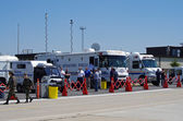 McGUIRE AIR FORE BASE-WRIGHTSTOWN, NEW JERSEY, USA-MAY 12: Special Operations Vehicles and Ambulances were on duty to handle any type of emergency during the base's Open House held on May 12, 2012. — Stock Photo