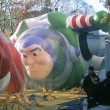 NEW YORK-NOV 21: On day before 2012 Macy's Thanksgiving Day Parade, all of giant balloons are inflated with helium. Pictured here is cartoon character Buzz Lightyear. — Stock Photo #33239607