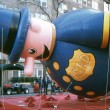 NEW YORK-NOV 21: On the day before the 2012 Macy's Thanksgiving Day Parade, all of the giant balloons are inflated with helium. Pictured here is the Harold the Policeman balloon. — Stock Photo