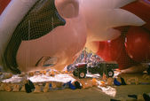 NEW YORK-NOV 21: On the day before the 2012 Macy's Thanksgiving Day Parade, all of the giant balloons are inflated with helium. Pictured here is the Elf on the Shelf balloon. — Stock Photo