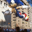 NEW YORK-NOV 22: holiday tradition since 1924, annual Macy's Thanksgiving Day Parade is seen by more th3.5 million people. Pictured here in 2012 is Sonic Hedgehog balloon. — Stock Photo #34161647