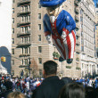 NEW YORK-NOV 22: holiday tradition since 1924, annual Macy's Thanksgiving Day Parade is seen by more th3.5 million people. Pictured here in 2012 is Uncle Sam balloon. — Stock Photo #34161763