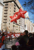 NEW YORK-NOV 22: A holiday tradition since 1924, the annual Macy's Thanksgiving Day Parade is seen by more than 3.5 million people. Pictured here in 2012 are the Macy's Believe balloons. — Stock Photo