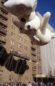 NEW YORK-NOV 24: A holiday tradition since 1924, the annual Macy's Thanksgiving Day Parade is seen by more than 3.5 million people. Pictured here in 2011 is the Pillsbury Doughboy. — Stock Photo