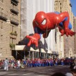 NEW YORK-NOV 24: A holiday tradition since 1924, the annual Macy's Thanksgiving Day Parade is seen by more than 3.5 million people. Pictured here in 2011 is Spiderman. — Stock Photo