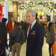NEW YORK-NOV 29: Terry J. Lundgren, Chairman, President and CEO of Macy's, Inc. is seen greeting shoppers on main selling floor of company's flagship Herald Square store on Black Friday 2013. — Stock Photo #36507589