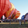 Stock Photo: SOLBERG AIRPORT-READINGTON, NEW JERSEY,USA-JULY 17: Pictured are some of many hot air balloons that flew at 1987 New Jersey Festival of Hot Air Ballooning.
