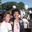 BRANCHBURG, NEW JERSEY, USA-SEPTEMBER 13: Well known balloonist and adventurer, Rocky Aoki (right), founder of Benihanrestaurants, is pictured at 1986 Somerset County Hot Air Balloon Festival. — Stock Photo #40979779
