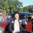 Stock Photo: BRANCHBURG, NEW JERSEY, USA-SEPTEMBER 13: Well known balloonist and adventurer, Rocky Aoki, founder of Benihanrestaurants, is pictured at 1986 Somerset County Hot Air Balloon Festival.