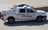 McGUIRE AIR FORCE BASE-WRIGHTSTOWN, NEW JERSEY, USA-MAY 11: A police vehicle was photographed during the base's 2014 open house featuring the U.S. Air Force Thunderbirds flight demonstration team. — Stock Photo