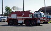 McGUIRE AIR FORCE BASE-WRIGHTSTOWN, NEW JERSEY, USA-MAY 11: A fire truck was photographed during the base's 2014 open house featuring the U.S. Air Force Thunderbirds flight demonstration team. — Stock Photo